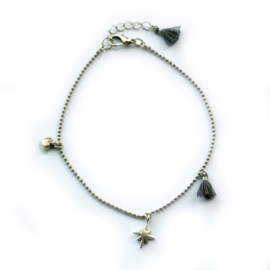 Maeve anklet ♥ gray silver