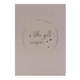 A little girl! - ansichtkaart