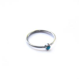 Lana ring ♡ turkoois silver