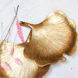 Gingko blad goud