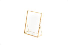 Staand fotolijstje goud 10x15cm