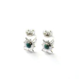 Aurora studs ☼ sun turkoois silver