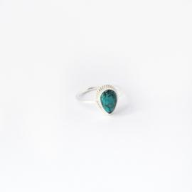 Scarlett ring ♡ turkoois silver