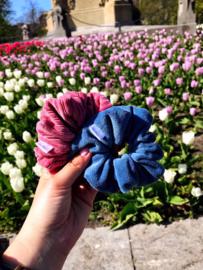 Velvet scrunchies in verschillende kleuren