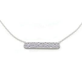 Nova necklace ♡ hammered bar silver
