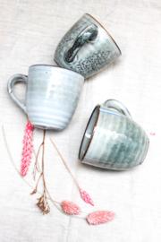 Keramieken kopjes grijs