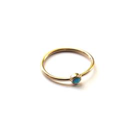 Lana ring ♡ turkoois gold