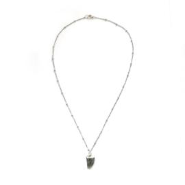 June necklace ♥ black stone silver