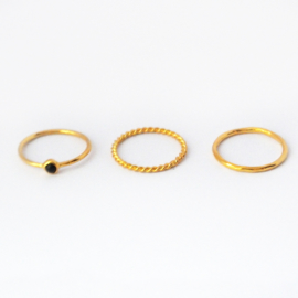 Lucy ring set ♥ onyx gold