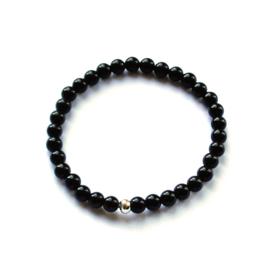 Terra bracelet • black natural stone