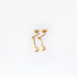 Moonchild chain studs ☽ gold