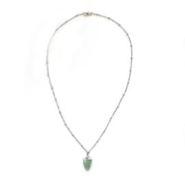 June necklace ♥ ocean green stone silver