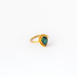 Scarlett ring ♡ turkoois gold