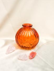 Bolvaasje brons oranje