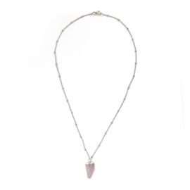 June necklace ♥ pink stone silver