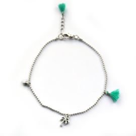 Maeve anklet ♥ turquoise silver