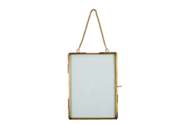 Hanging photoframe antique gold