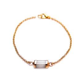 Melia bracelet ♡ hexagon bar white gold