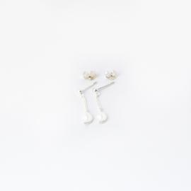 Moonchild chain studs ☽ silver