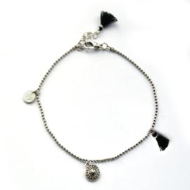 Maeve anklet ♥ black silver