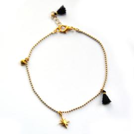 Maeve anklet ♥ black gold