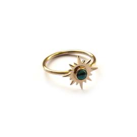 Aurora ring ☼ sun turkoois gold