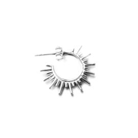 Alina studs ☼ shining sun studs silver