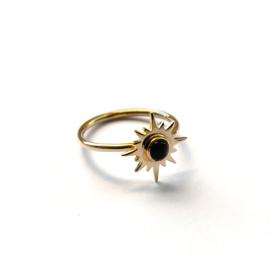 Aurora ring ☀ sun onyx gold