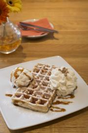 Vanille wafel met karamel zeezout