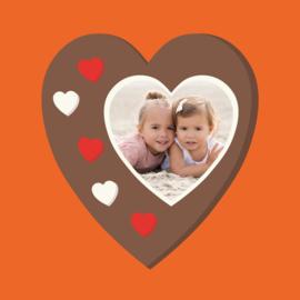 Chocolade hart met foto