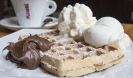 Vanille wafel met Nutella