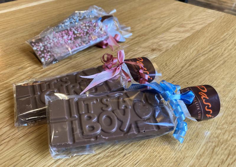 Chocoladereep Geboorte - It's a boy / girl