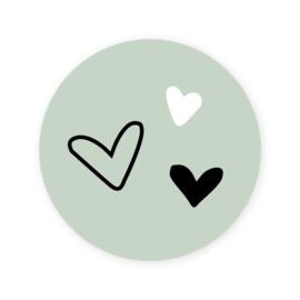 Sticker | hartjes | 10 stuks