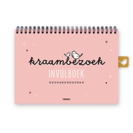 Kraambezoek invulboek | roze | Buitenbeentje