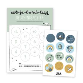 Eet-je-bord-leeg beloningsposter | groen | incl. stickers