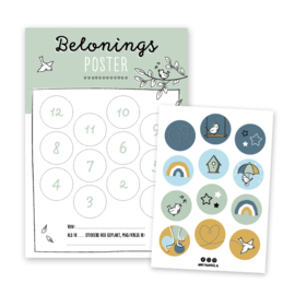 Beloningsposter | groen | incl. stickers