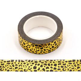 Washitape | luipaard goudfolie