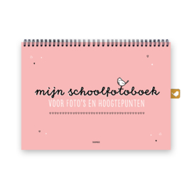 Mijn schoolfotoboek | Roze