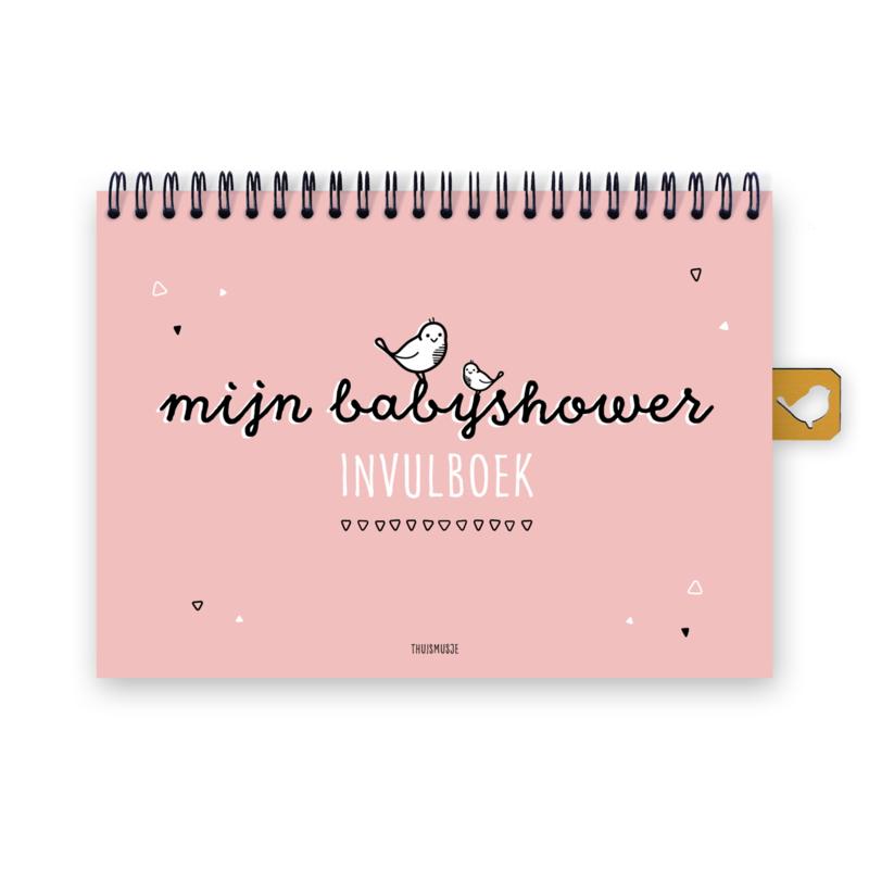 Mijn babyshower invulboek   roze