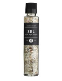 Lie gourmet salt, pepper, thyme, shallots