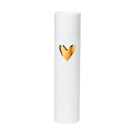Räder Love vases heart gold d5.5cm h17cm