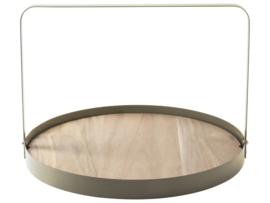Gusta serveerplank bamboe d35cm beige