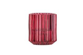 THEELICHTHOUDER ROOD 6X6XH6CM GLAS 