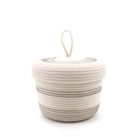 Koba lidded basket-S- brown 18x12