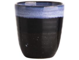 Gusta mok 180ml zwart-blauw