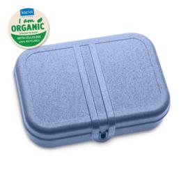 PASCAL L ORGANIC Lunch Box met verderler  cosmos black-cotton white