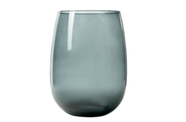 VAAS BELLY MEDIUM GRIJS 25X25XH33CM ROND GLAS