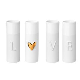 Räder Love mini vase set of 4pcs d3.5 xh9cm