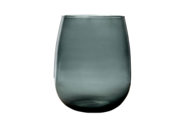 VAAS BELLY SMALL GRIJS 22X22XH26CM ROND GLAS