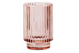 THEELICHTHOUDER VIEUX ROZE D8,5XH13CM GLAS